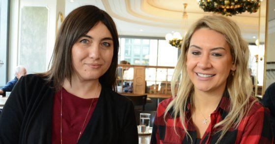 Pusula Dergisi Muhabiri Bahar Gökbender (solda) Milli Sporcu ile Zürih'te bir araya geldi.